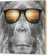 Bigfoot In Shades Wood Print