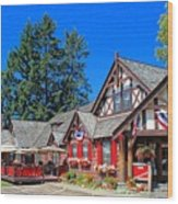 Bigfork Inn Wood Print