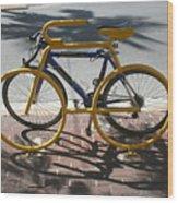 Bike And Rack Wood Print