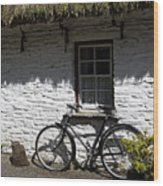 Bike At The Window County Clare Ireland Wood Print