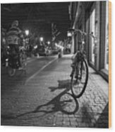 Bike Between Lights And Shadows, Netherlands Wood Print