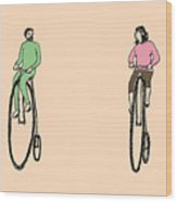 Bike Buddies Wood Print