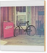 Bike By A Window Brighton Illinois Wood Print