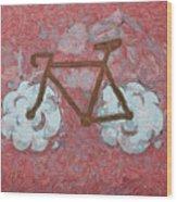 Bike-cloud Red - Da Wood Print
