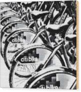 Bike Fleet Wood Print