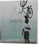 Bike Head In Key West Florida Wood Print