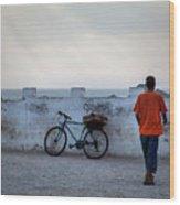 Bike In Essaouira Wood Print