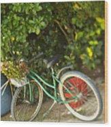 Bike In Maupiti Wood Print