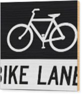 Bike Lane Wood Print