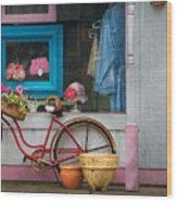 Bike - Lulu's Bike Wood Print