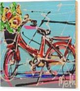 bike of Amsterdam series 2018 no.2 Wood Print