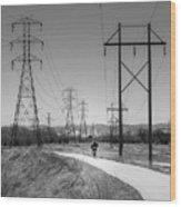 Bike Power On Platte Trail Wood Print