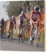 Bike Race Wood Print