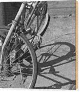 Bike Shadow Wood Print
