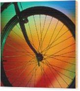 Bike Silhouette Wood Print by Garry Gay