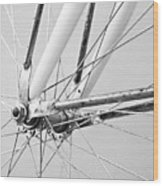 Bike Spokes Wood Print