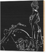 Biker Biach Wood Print