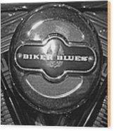 Biker Blues Wood Print