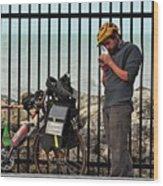 Biker Dude  Wood Print