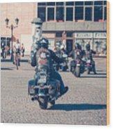 Bikers In Gdansk Wood Print