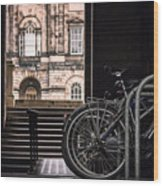 Bikes And University Wood Print