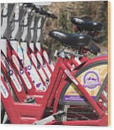 Bikes For Rent Wood Print