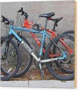 Bikes Left Alone Wood Print