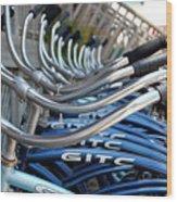 Bikes Wood Print by Steven Scott
