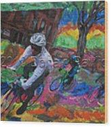 Biking In Mn  Wood Print