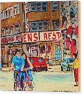 Biking  Past Ben Wood Print