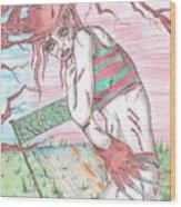 Bikini Freddy Wood Print