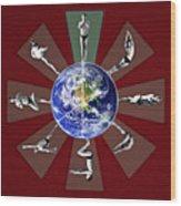 Bikram Yoga Wood Print