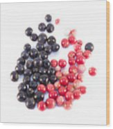 Bilberries And Cowberries Isolated Wood Print