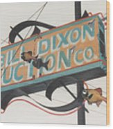 Bill Dixon Auction Wood Print