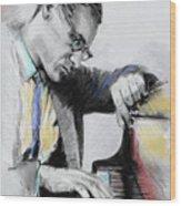 Bill Evans Wood Print