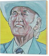Bill Monroe Wood Print