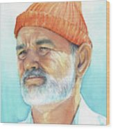 Bill Murray Steve Zissou Life Aquatic Wood Print