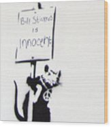 Bill Stickers Is Innocent Wood Print by Amy Bernays