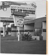 Billboard The Last Territory Tucson Arizona 1987 Wood Print