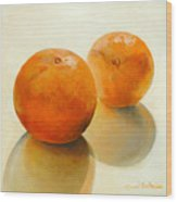 Billes Oranges Wood Print