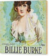 Billie Burke In The Misleading Widow 1919 Wood Print