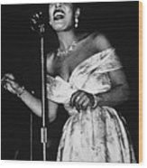 Billie Holiday Wood Print by American School
