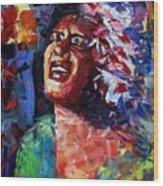 Billie Holiday Live Wood Print