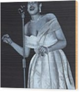 Billie Holiday Wood Print by Patrick Kelly
