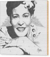 Billie Holiday Wood Print