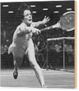 Billie Jean King Wood Print