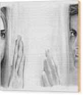 Billie Piper And David Tennant Wood Print