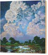 Billowing Clouds Wood Print