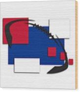 Bills Abstract Shirt Wood Print