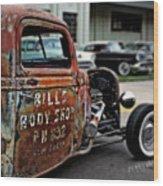 Bill's Rat Rod Wood Print